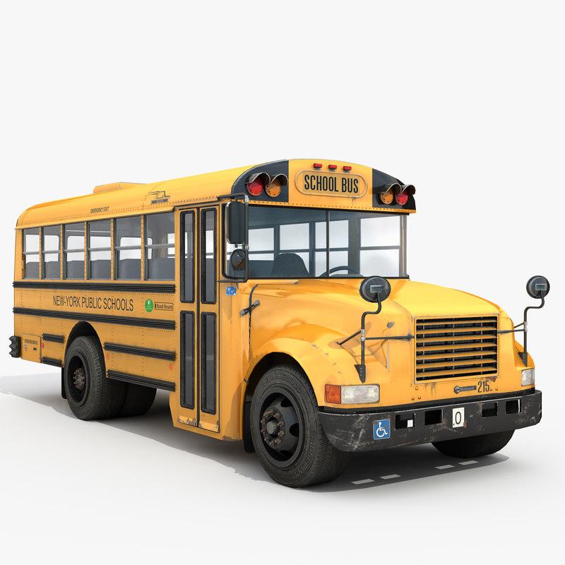 classic school bus small 3D