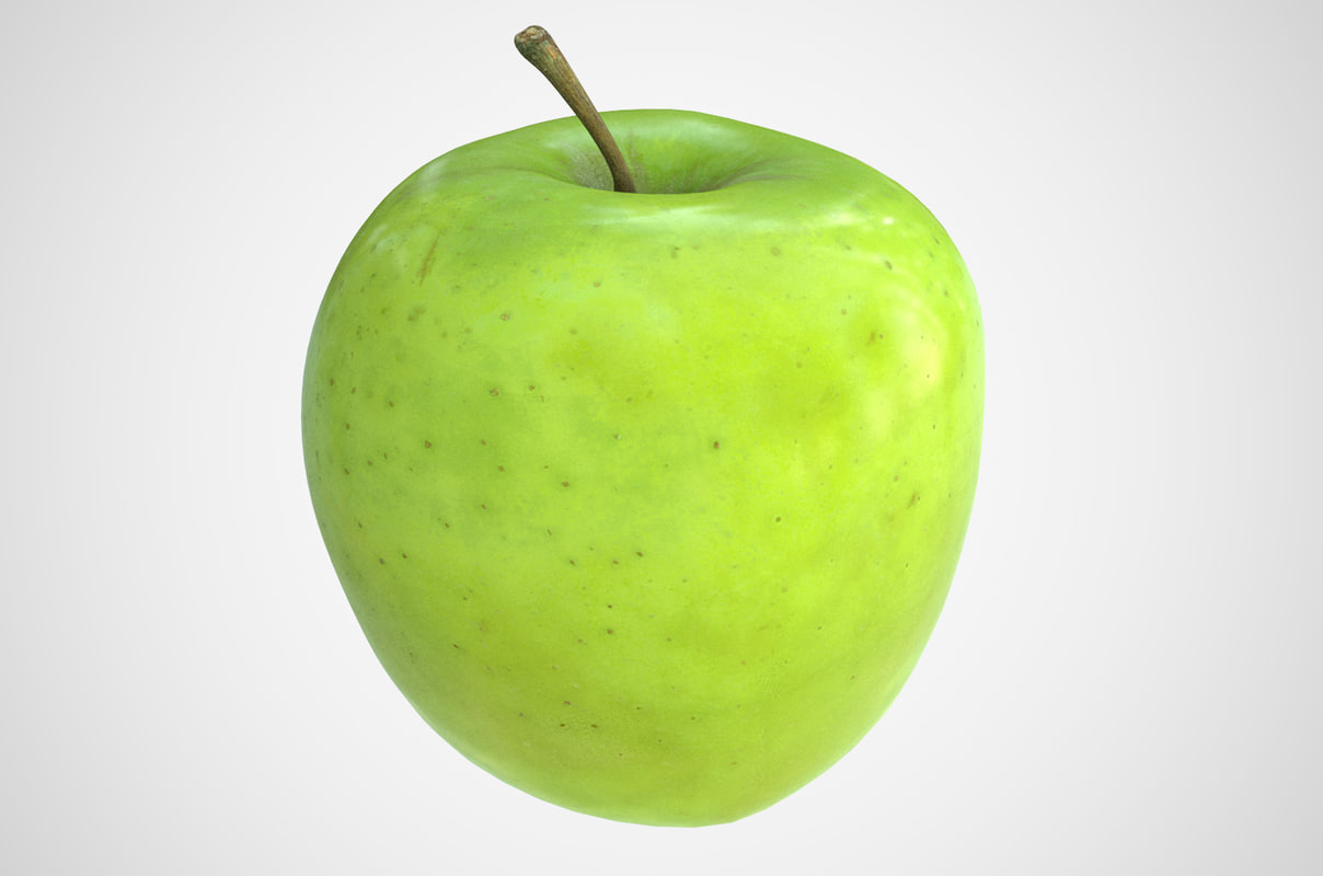 apple photorealistic scaned 3D model