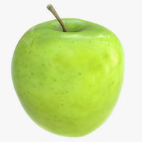 apple photorealistic scaned 3D model