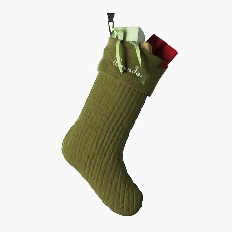 christmas stocking holiday model