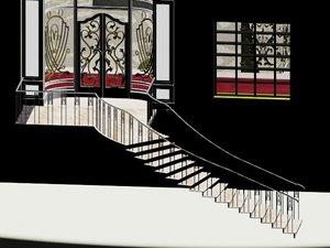 ottoman restaurant 3D model