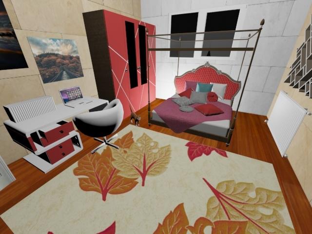 3D young room model