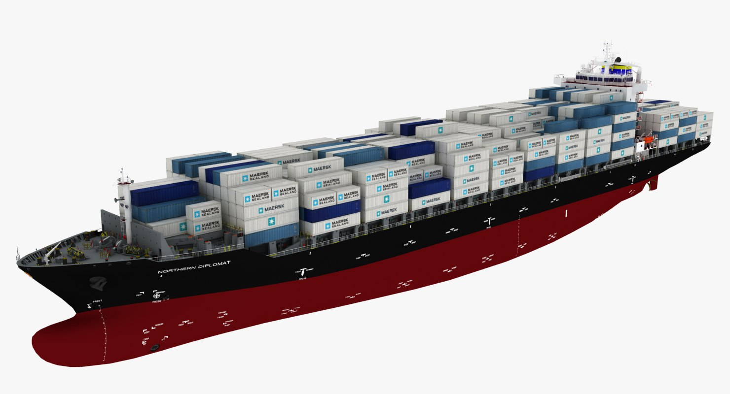 container ship northern diplomat 3D model