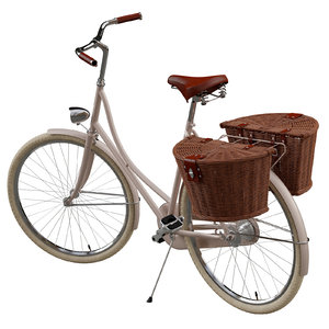 classic lady bicycle 3D model