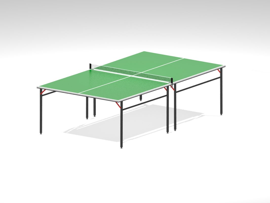 ping-pong table 3D model