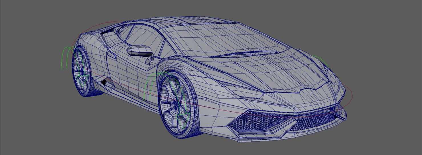 3D easy rigged race car