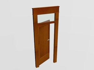 modern wooden door style 3D model