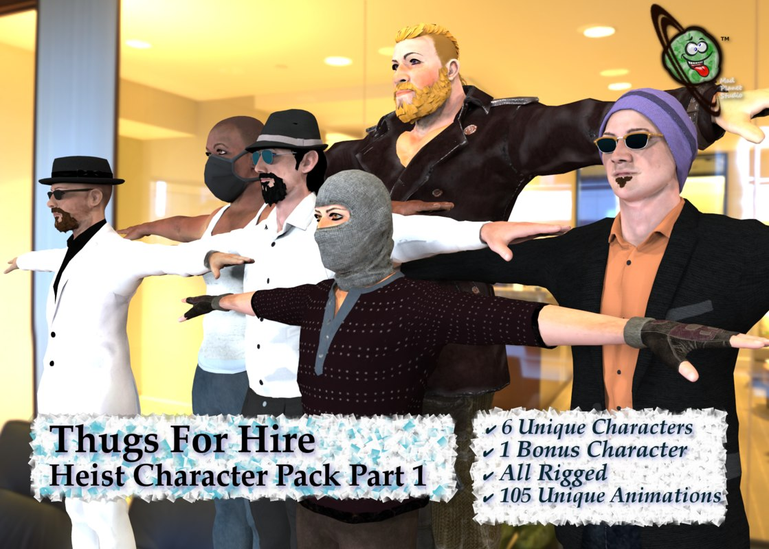 thugs hire character pack 3D