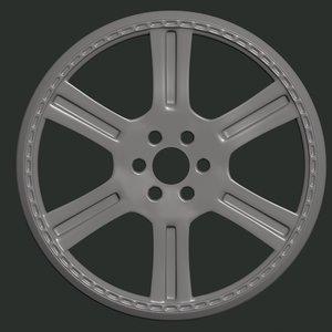 car rim model