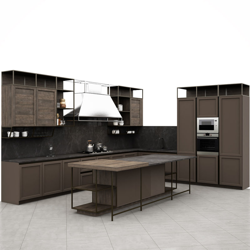 3D frame snaidero kitchen furniture - TurboSquid 1243310