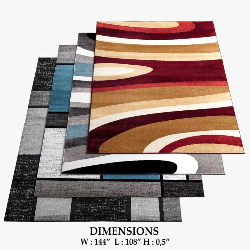 area rugs 2 3D model