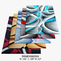 3D area rugs 3 model