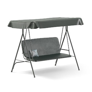 black garden swing chair model