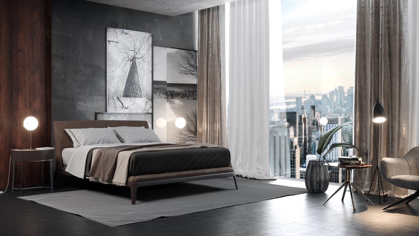 3d Poliform Bedroom Model Turbosquid 1243352