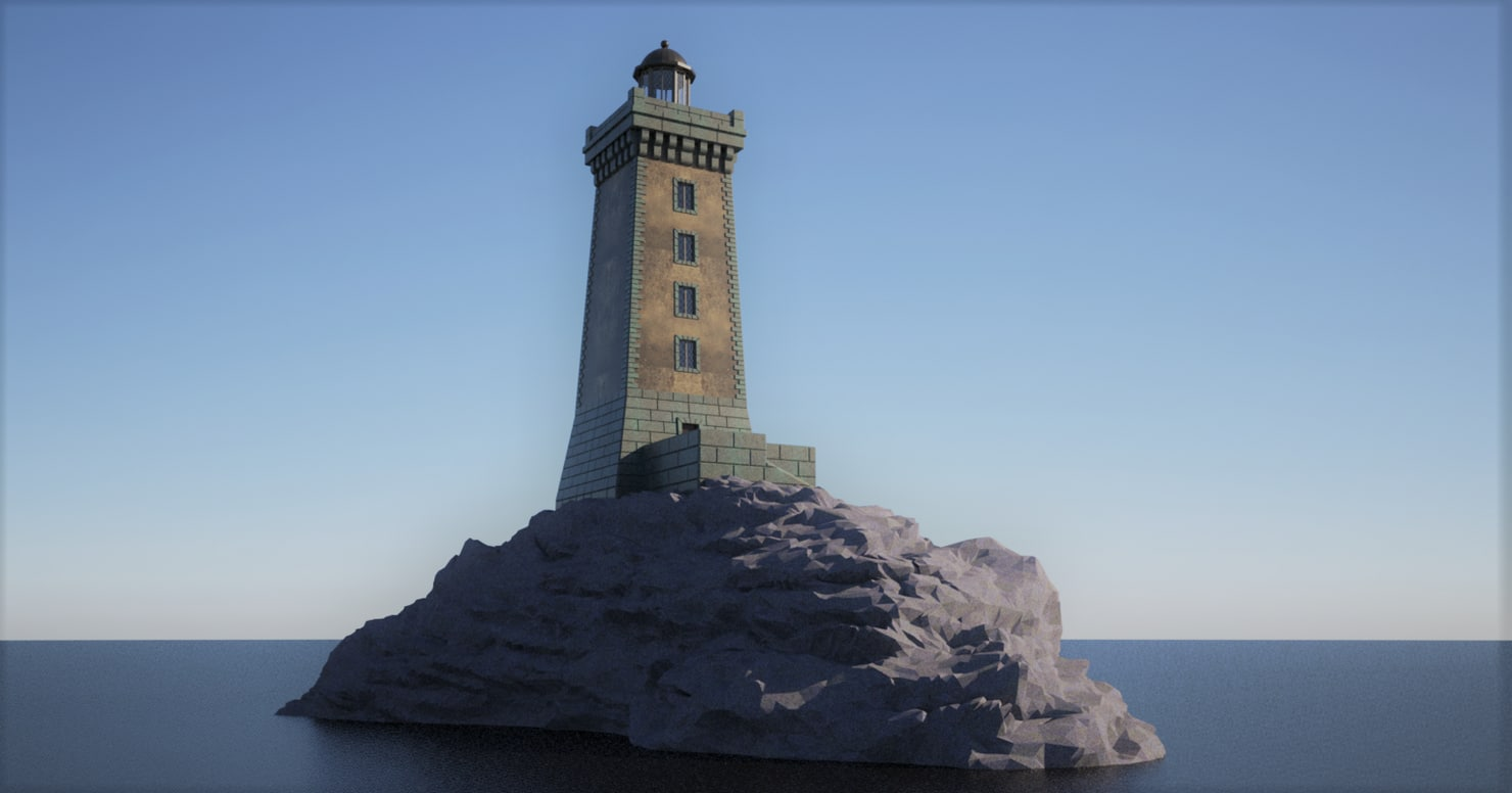 3D model french lighthouse