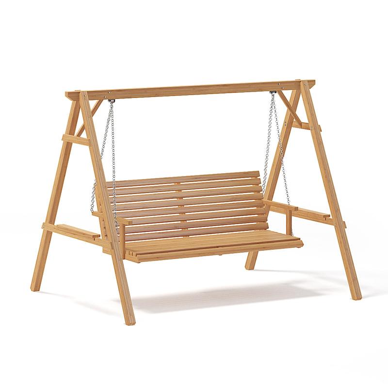 Wooden Garden Swing Chair Model