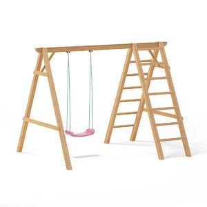 3D children swing ladder