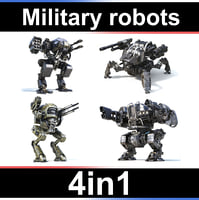 military robots set 4in1 3D model