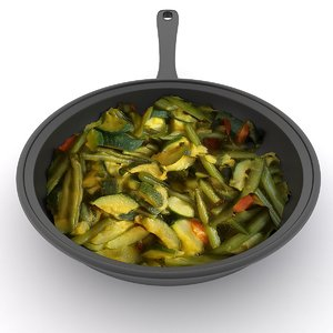 3D vegetables pan model