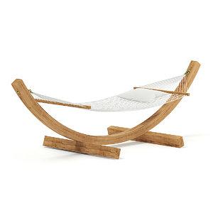 hammock white pillow model