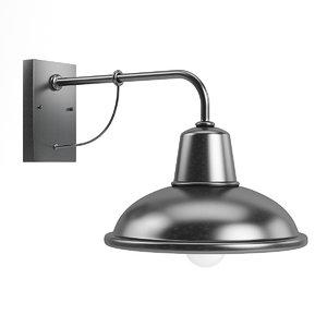 large exterior lamp 3D