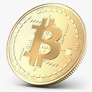 3D model bitcoin bit coin