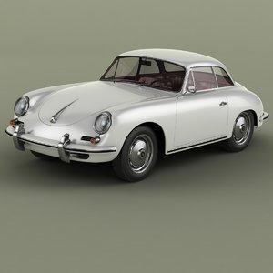porsche 356b notchback 3D model