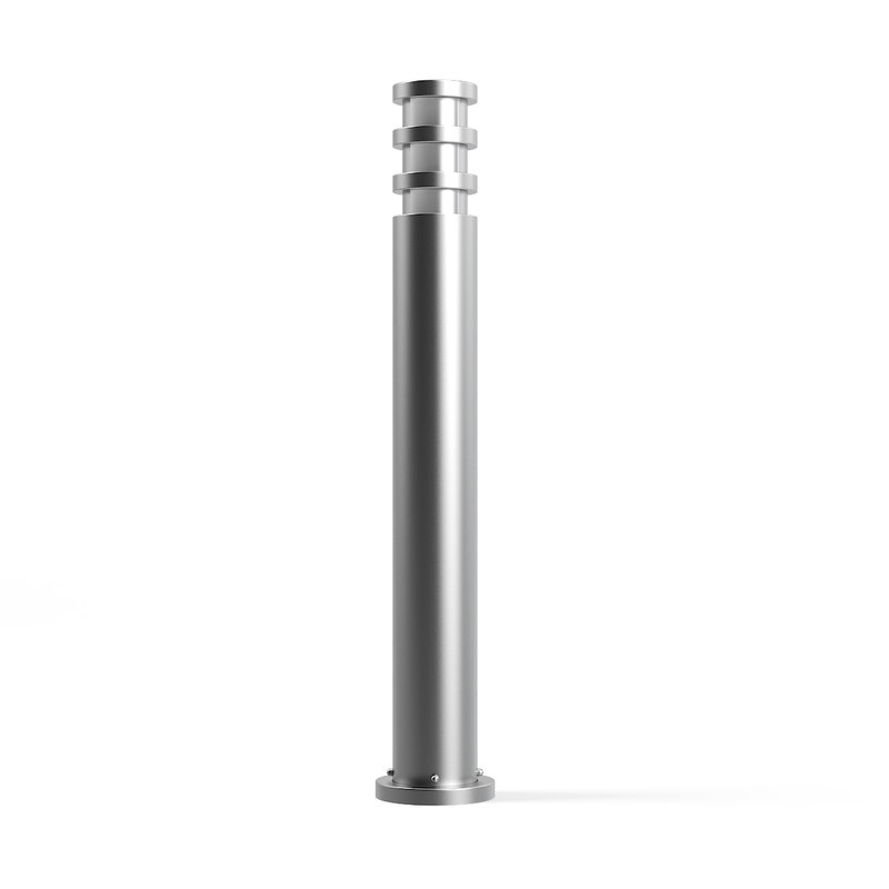 3D cylindrical exterior standing lamp model