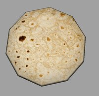 indian bread 3D model