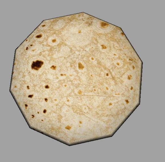 indian bread 3D model