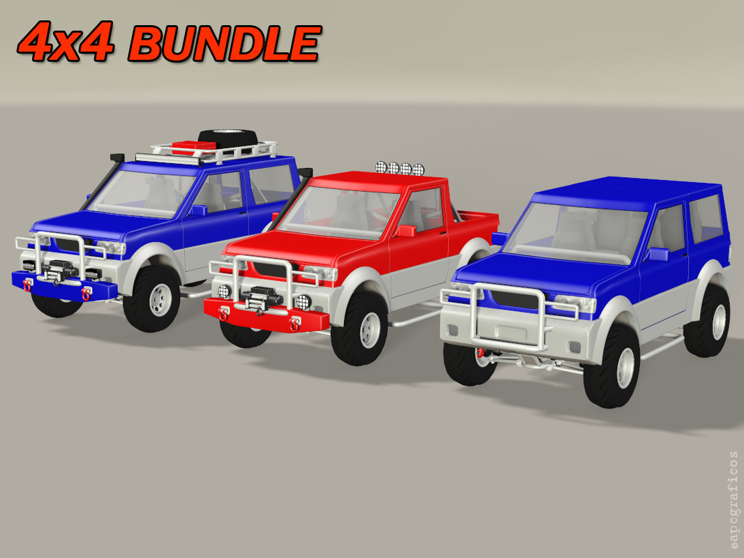 3D model 4x4 vehicle suv