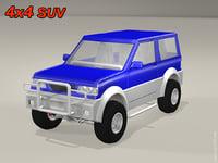 4x4 suv 3D model