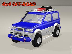 3D 4x4 off-road model