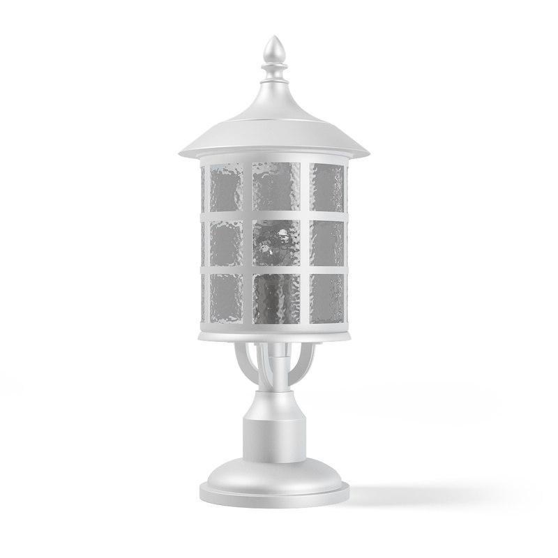 3D white lantern