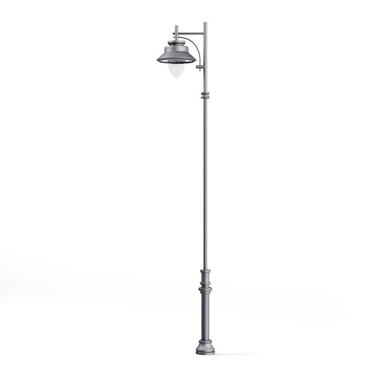 tall park lamp 3D model