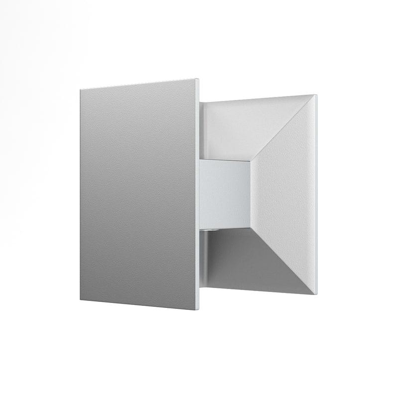 3D rectangular modern exterior wall