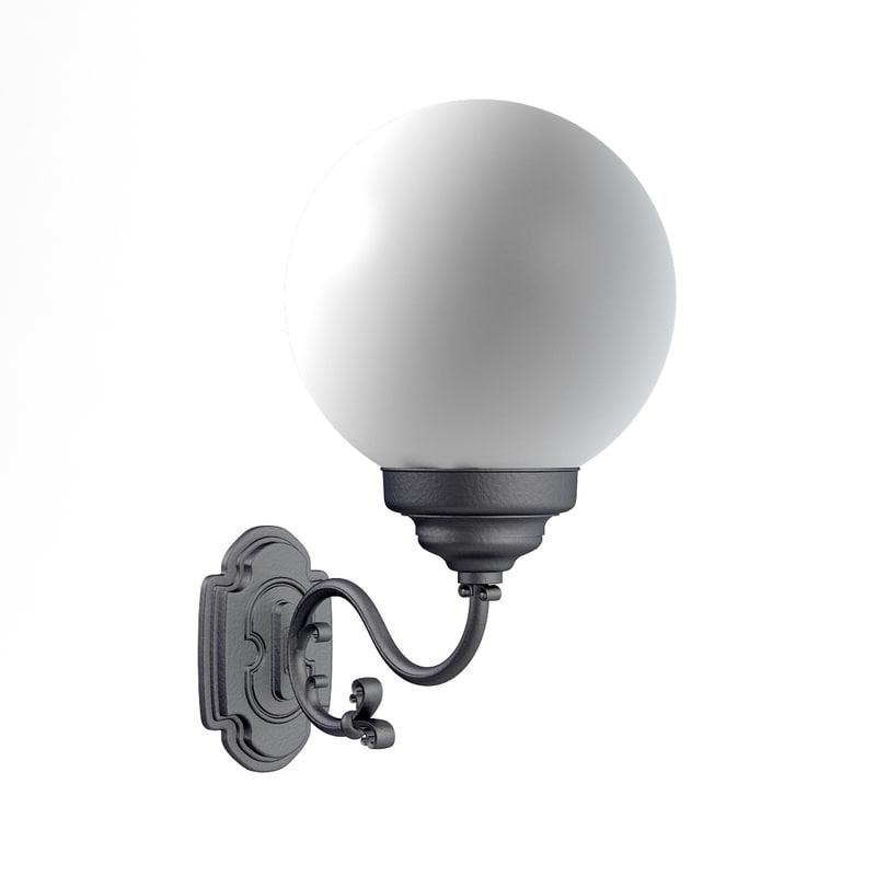 3D model classic wall exterior lamp