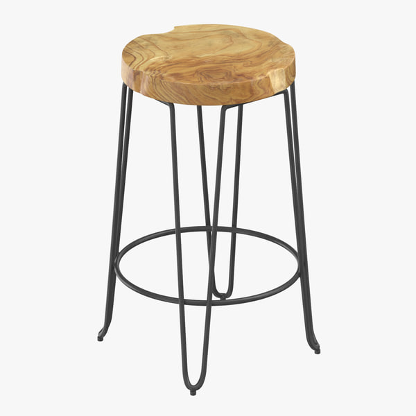 contemporary stool 3D