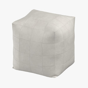 3D contemporary pouf