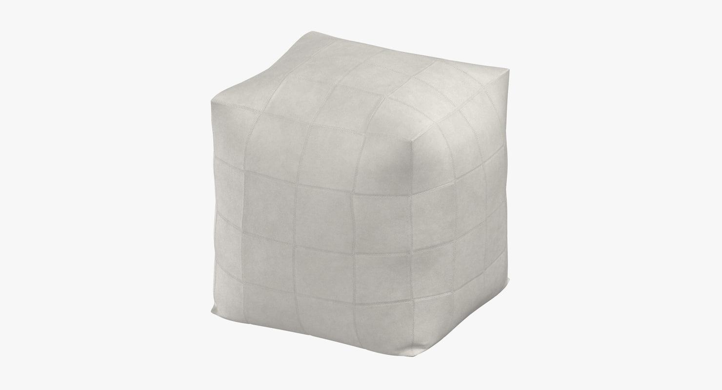 3D contemporary pouf