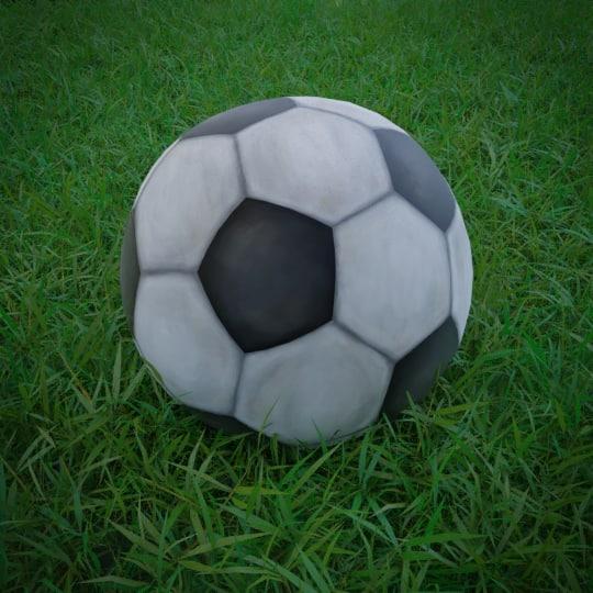 3D model football stylized