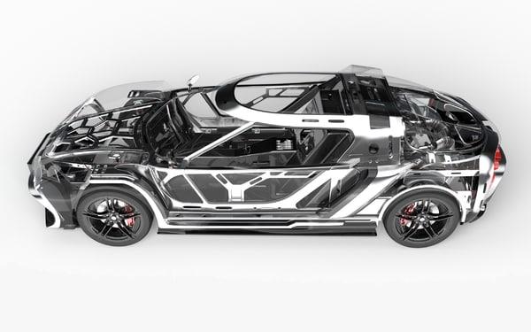 3D concept car design
