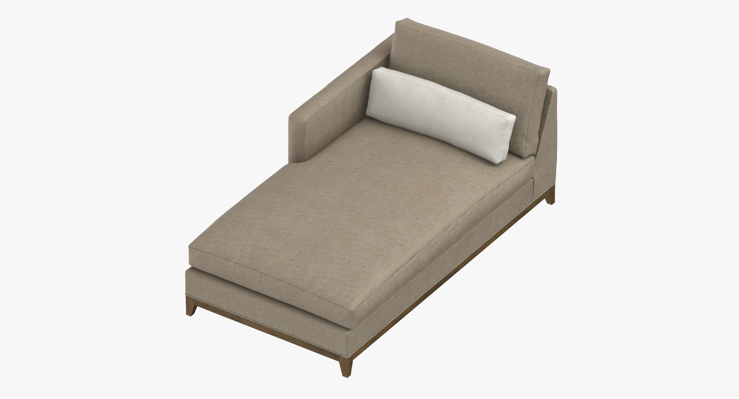 contemporary chaise 3D model