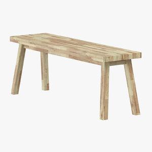 3D scandinavian bench model
