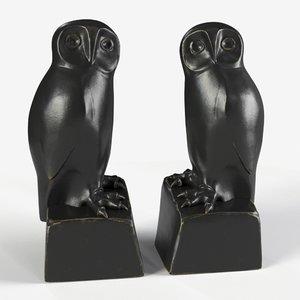 bookend owl set 2 3D model