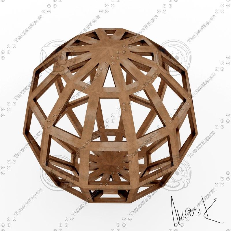 hebdomecontadilfaedron leonardo 3D model