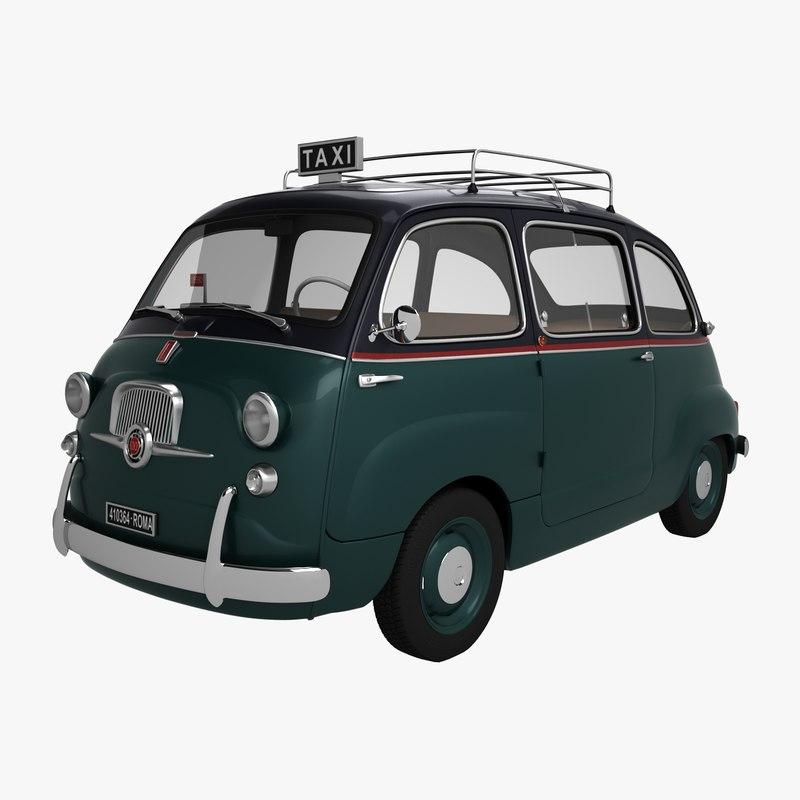 fiat 600 multipla taxi model