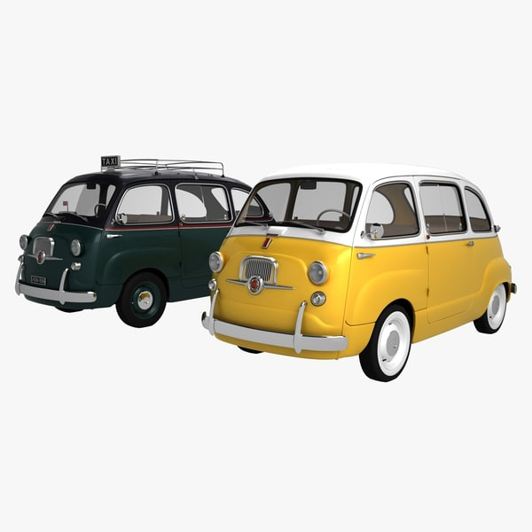 fiat 600 multipla 1957 3D model