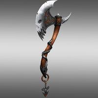 3D battle axe