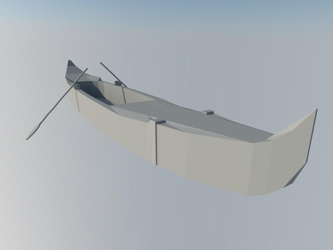 3D venice gondola boat model